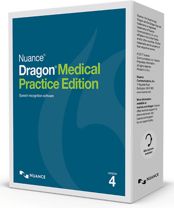 Dragon Medical Practice Edition box