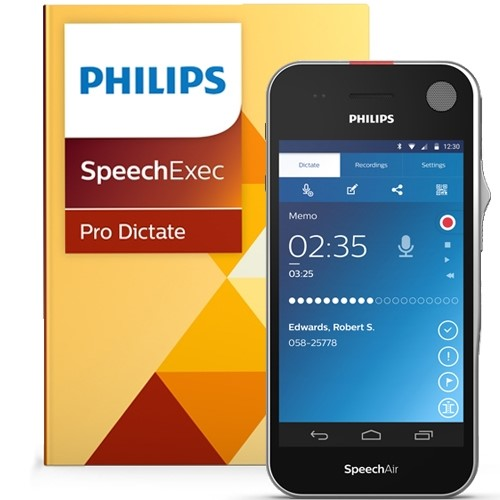 Philips SpeechAIr with SpeechExec – Pro Dictate Software